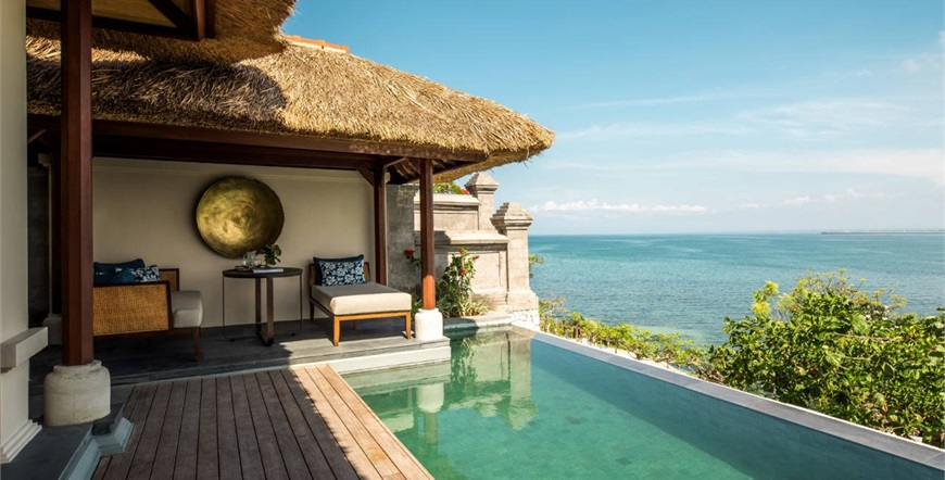 Four Seasons Resort Bali at Jimbaran Bay-FAMILY AND PREMIER OCEAN VILLA bazen